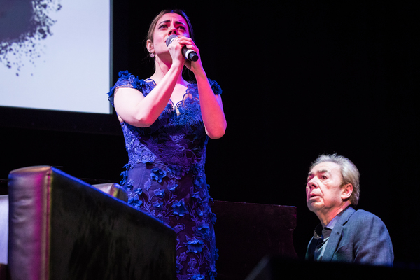 Meghan Picerno  and Andrew Lloyd Webber