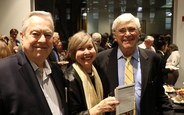 Bill Kurtis of Lincoln Park joins Rhona and Julian Frazin of Sandburg Village at the Arts Club for NEW FACES SING BROADWAY 1959 from Porchlight Music Theatre