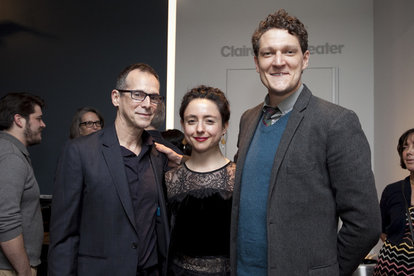 LCT alums T. Ryder Smith and Gabriel Ebert with queens director Danya Taymor
