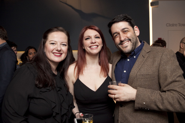 Zuzanna Szadkowski and Andrea Syglowski with LCT3 Artistic Director Evan Cabnet