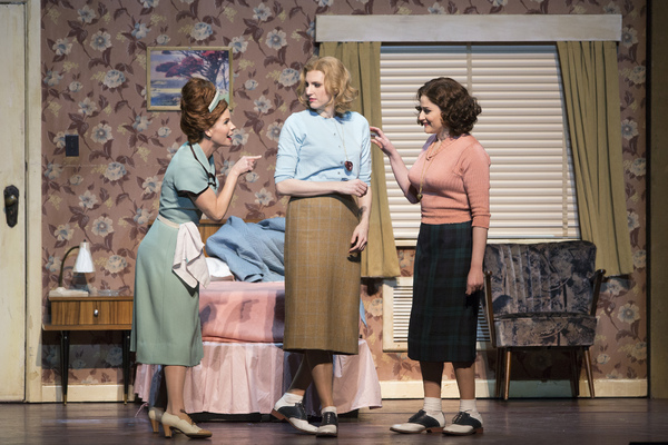 Kelli O'Hara as Despina, Amanda Majeski as Fiordiligi, and Serena Malfi as Dorabella in Mozart's Cosi fan tutte. Photo: Marty Sohl/Metropolitan Opera