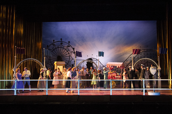A scene from Phelim McDermott's new production of Mozart'sCosì fan tutte . Photographed here at the English National Opera. Photo by Martin Smith.