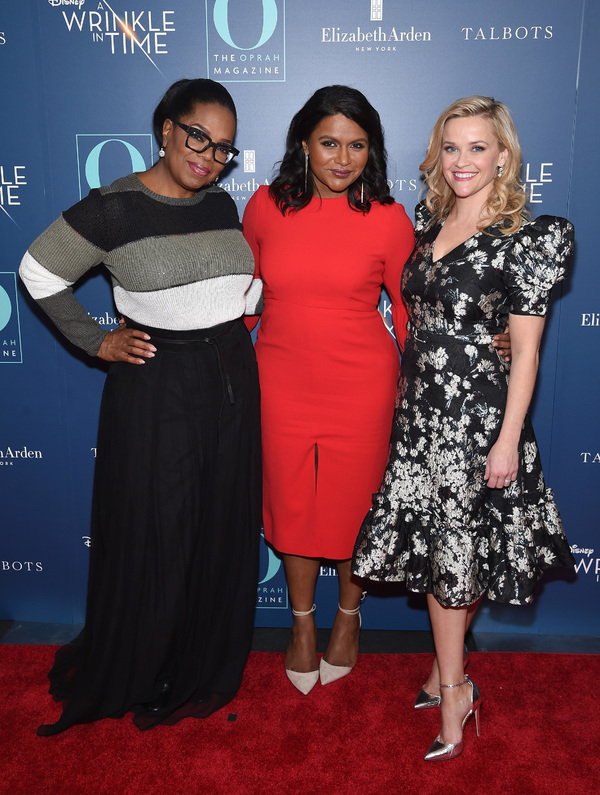 Oprah Winfrey, Mindy Kaling and Reese Witherspoon