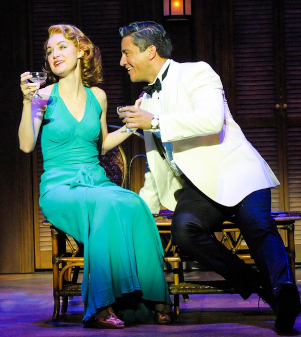 Erin Davie portrays Nellie Forbush and Nicholas Rodriguez portrays Emile De Becque