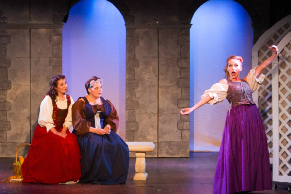 Step-sisters Charlotte (Kelsey Riker) and Bernice (Erica Clare) have a pet name for Cinderrrrella!  Photo by Martin Harris