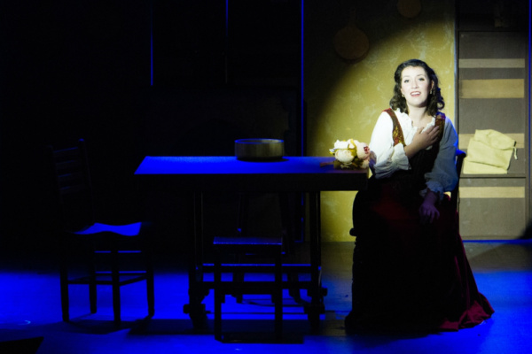 Cinderella (Maria Reed) sing about her mother in Mama's Sweet Song  Photo by Martin Harris