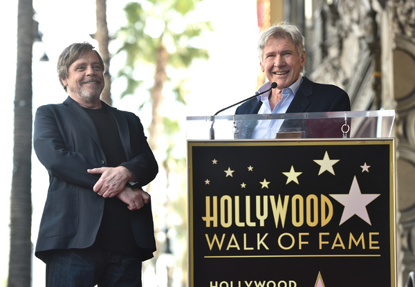 Mark Hamill & Harrison Ford  Photo