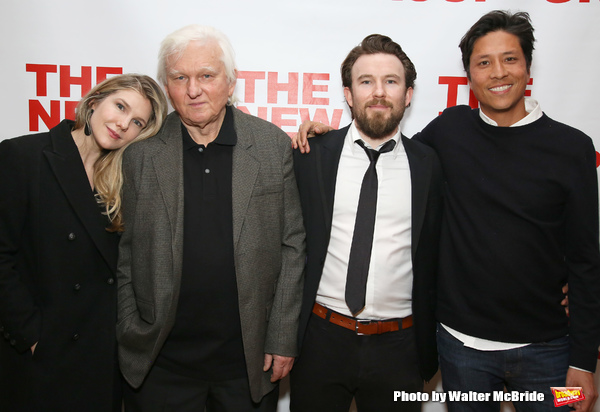 Lily Rabe, David Rabe, Michael Rabe and Jason Rabe