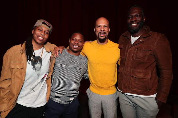 Executive Producer Lena Waithe, Jason Mitchell, Executive Producer Common and Director Rick Famuyiwa at the 2018 Showtime EMMY FYC screening of THE CHI at DGA on 3/9/18