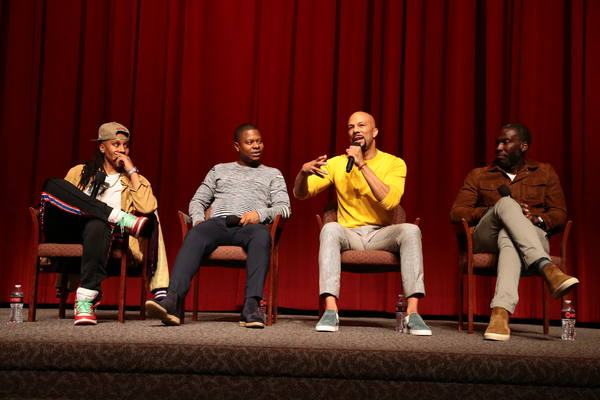 Executive Producer Lena Waithe, Jason Mitchell, Executive Producer Common, and Director Rick Famuyiwa at the 2018 Showtime EMMY FYC screening of THE CHI at DGA on 3/9/18