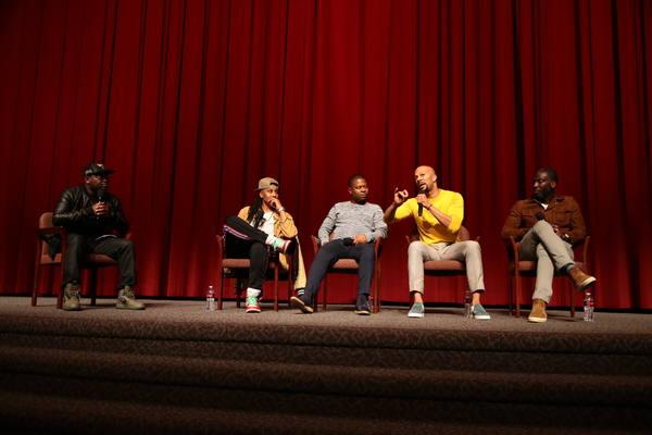 Moderator Lil Rel Howery, Executive Producer Lena Waithe, Jason Mitchell, Executive P Photo