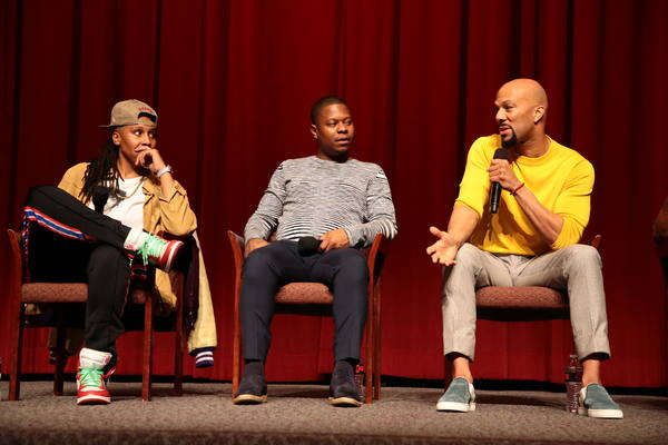 Executive Producer Lena Waithe, Jason Mitchell, and Executive Producer Common at the 2018 Showtime EMMY FYC screening of THE CHI at DGA on 3/9/18. - Photo Credit: Eric Charbonneau/SHOWTIME