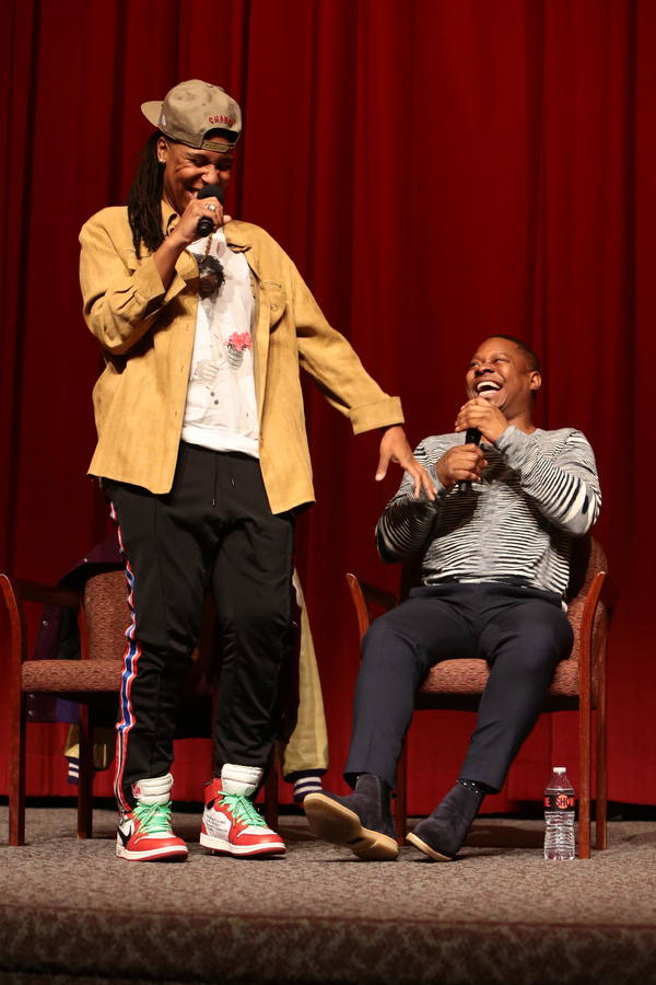Executive Producer Lena Waithe and Jason Mitchell at the 2018 Showtime EMMY FYC screening of THE CHI at DGA on 3/9/18. - Photo Credit: Eric Charbonneau/SHOWTIME