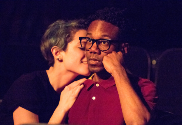 Anna Basile and Ronald Lewis in THE FLICK at The Wilbury Theatre Group. Photo by Erin X. Smithers.