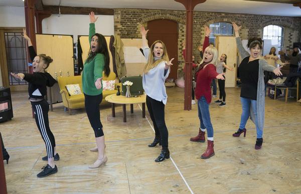 Anya Evans (Tina Denmark), Kim Maresca (Judy Denmark), Lara Denning (Louise Lerman, Eve), Tracie Bennett (Lita) and Harriet Thorpe (Myrna Thorn)