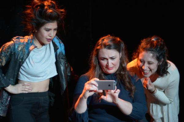 Carolina Do (Cassandra), Giverny Petitmermet (Andromache), Hannah Seusy (Polyxena) Photo