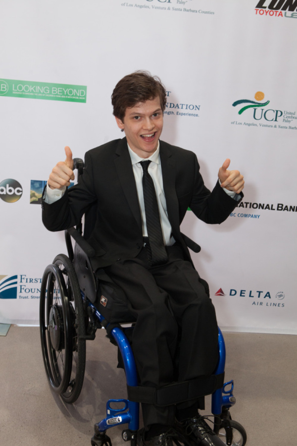 Honoree Micah Fowler of ABC's Speechless arrives at United Cerebral Palsy Los Angeles' Art of Care Gala where he received their Trailblazer Award.