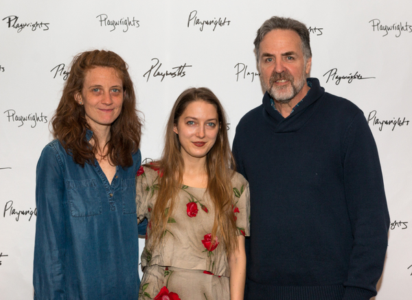 Lee Sunday Evans, Clare Barron & Playwrights Horizons Artistic Director Tim Sanford