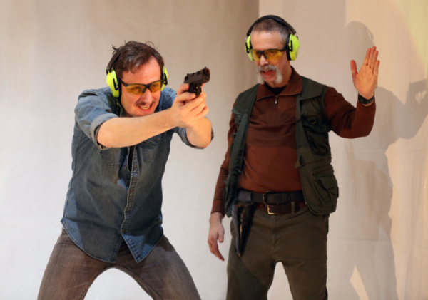 Ean Sheehy & Michael Gnat & Ean Sheehy in Shooter. Photo by Carol Rosegg. Photo
