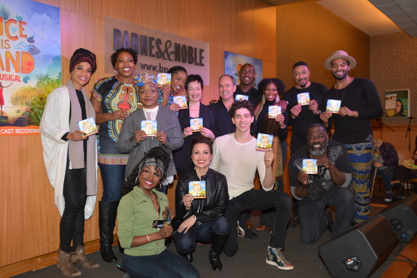 The Cast of Once on This Island that includes Tamara Gray, Aurelia Williams Kenita R. Photo