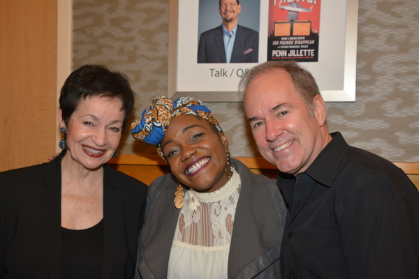 Lynn Ahrens, Kenita R. Miller and Stephen Flaherty