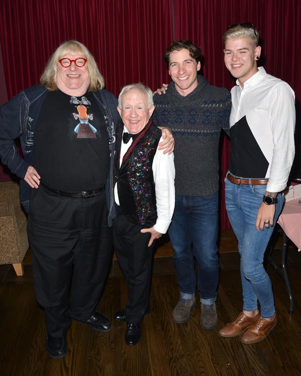 Bruce Vilanch, Leslie Jordan, Mark Cirillo, and Friend