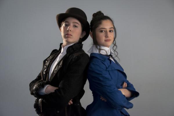 Elizabeth Belilty as Pieretta Aronnax and Isabella Wilson as Conseil.  photo by Jason Johnson-Spinos