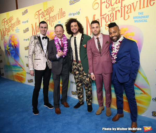 Photo Coverage: Cast of ESCAPE TO MARGARITAVILLE Parties Vacation-Style on Opening Night!