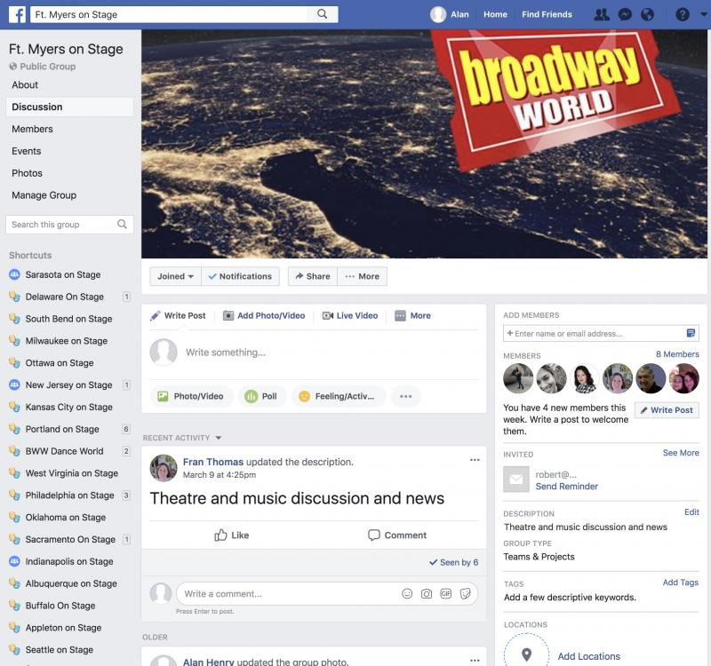 Announcing BWW Fort Myers on Stage Facebook Group