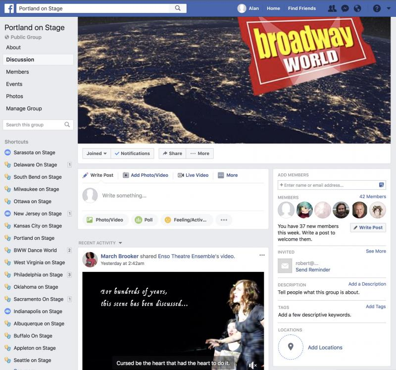 Join The BWW Portland on Stage Facebook Group