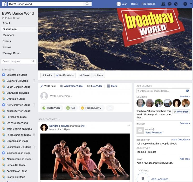 Announcing BWW Dance World Facebook Group