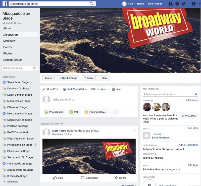 Announcing BWW Albuquerque on Stage Facebook Group