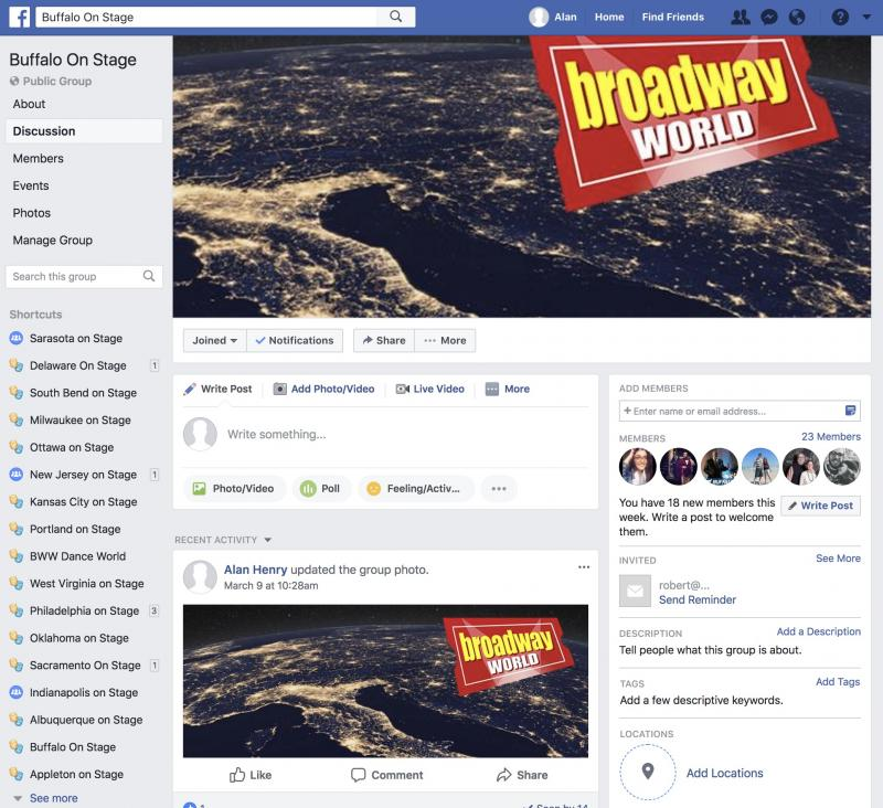 Join The BWW Buffalo on Stage Facebook Group