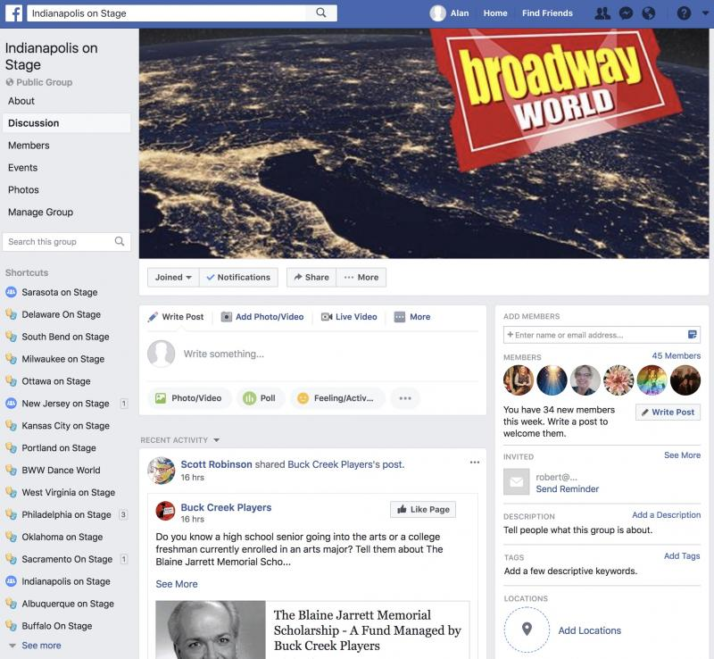 Announcing BWW Indianapolis on Stage Facebook Group