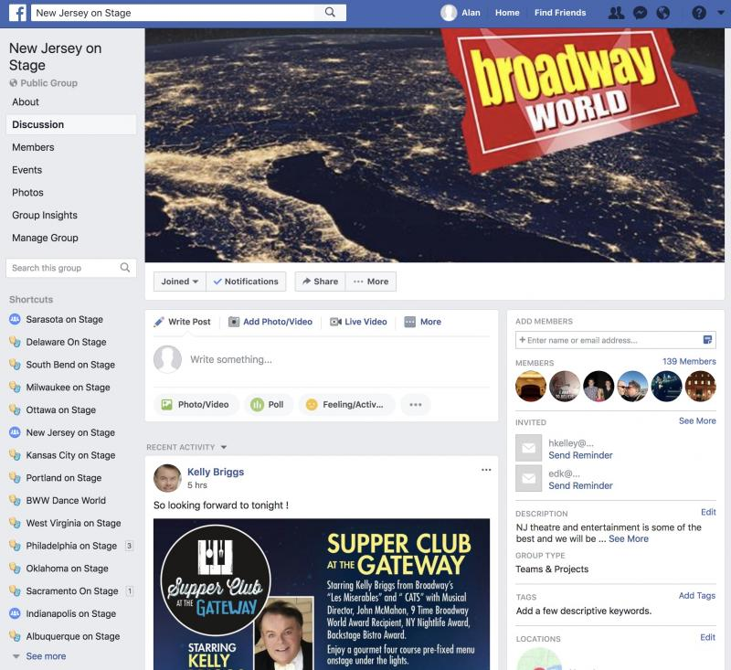 Join The BWW New Jersey on Stage Facebook Group