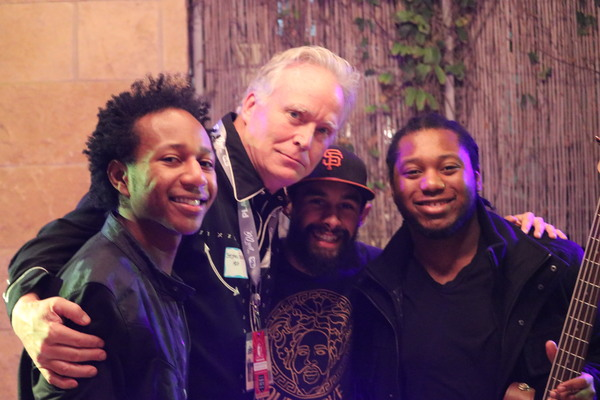 Stephen Easley with members of The Peterson Brothers - SXSW 2018PHOTO CREDIT: Kathy Strain