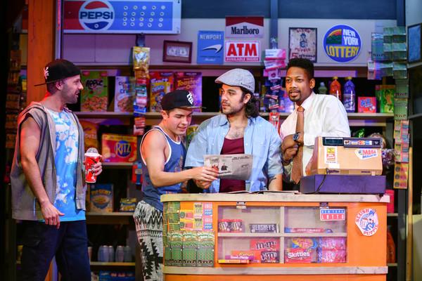 Danny Lopez (Graffiti Pete), Nick Martinez (Sonny), Spiro Marcos (Usnavi) and Josh Marin (Benny)