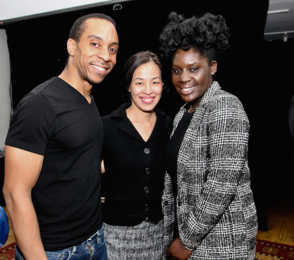 Will Cobbs, Lia  Chang, Playwright Camille Darby. Photo by Garlia Cornelia