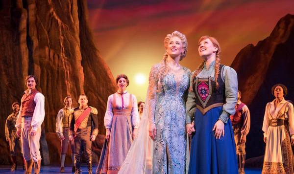 Frozen Production Photo - Caissie Levy, Patti Murin and cast