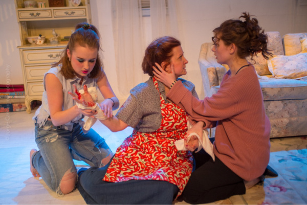 Sherry (Paige Felger), Evelyn (Susan Ferrara), and Kess (Erica Knight)