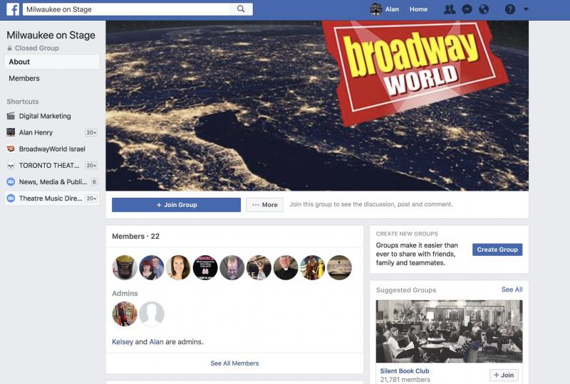 Join The BWW Milwaukee on Stage Facebook Group