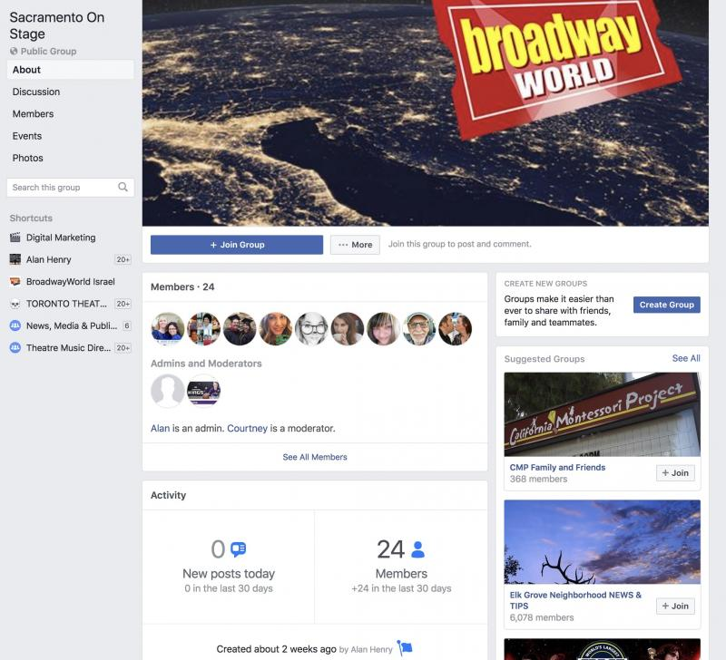 Announcing BWW Sacramento on Stage Facebook Group
