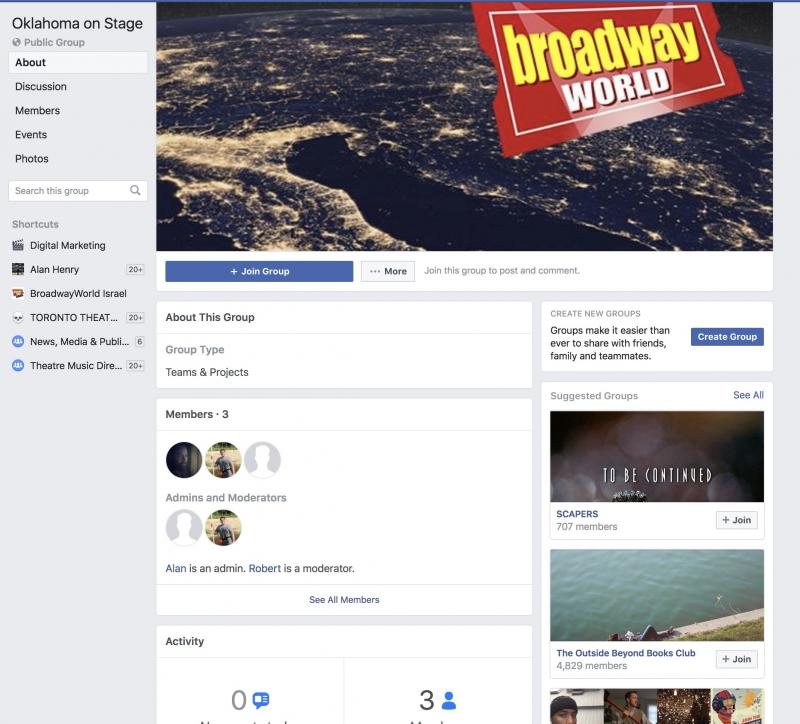 Announcing BWW Oklahoma on Stage Facebook Group
