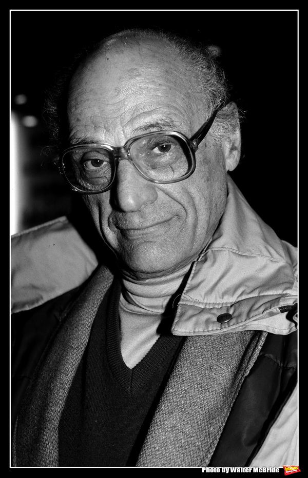 Arthur Miller photographed at the American Airlines Theatre on November 15, 1993 in New York City.