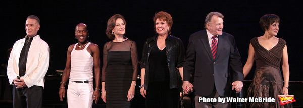 "Sammy Williams, Ron Dennis, Kelly Bishop, Donna McKechnie, Larry Bank & Priscilla Lopez performing in the All Star Benefit ""Six Degrees of Marvin Hamlisch� benefitting The Actors Fund and honoring Broadway Musical Director Fran Liebergall at Symphony"