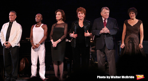 """Sammy Williams, Ron Dennis, Kelly Bishop, Donna McKechnie, Larry Bank & Priscilla Lopez performing in the All Star Benefit """"Six Degrees of Marvin Hamlisch� benefitting The Actors Fund and honoring Broadway Musical Director Fran Liebergall at Symphony"""
