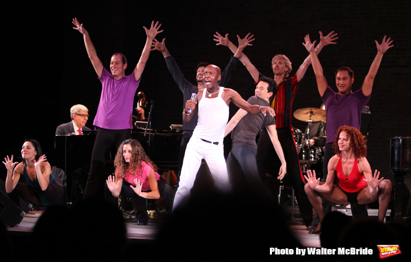 Sammy Williams with ensemble from A CHORUS LINE performing in the All Star Benefit â Photo