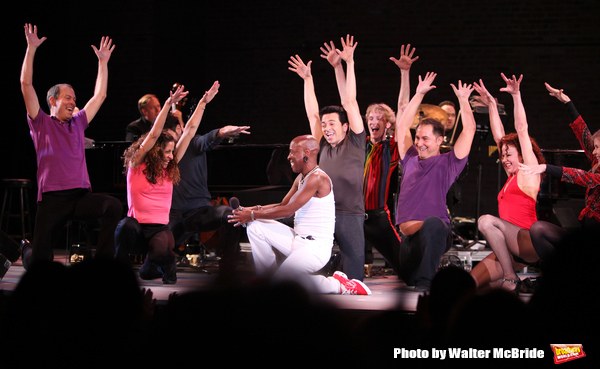 Sammy Williams with the ensemble for A CHORUS LINE performing in the All Star Benefit Photo