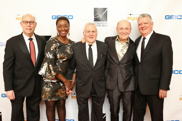 Gala Chair Craig Pascal, Gala Chair Rynthia Rost, John Kander, Gala Chair Victor Shargai and Albert Stephenson
