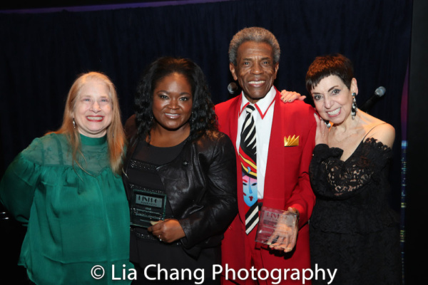 Director Shellen Lubin, 2018 Bistro Award recipients Shemekia Copeland and Andre De Shields, and producer Sherry Eaker